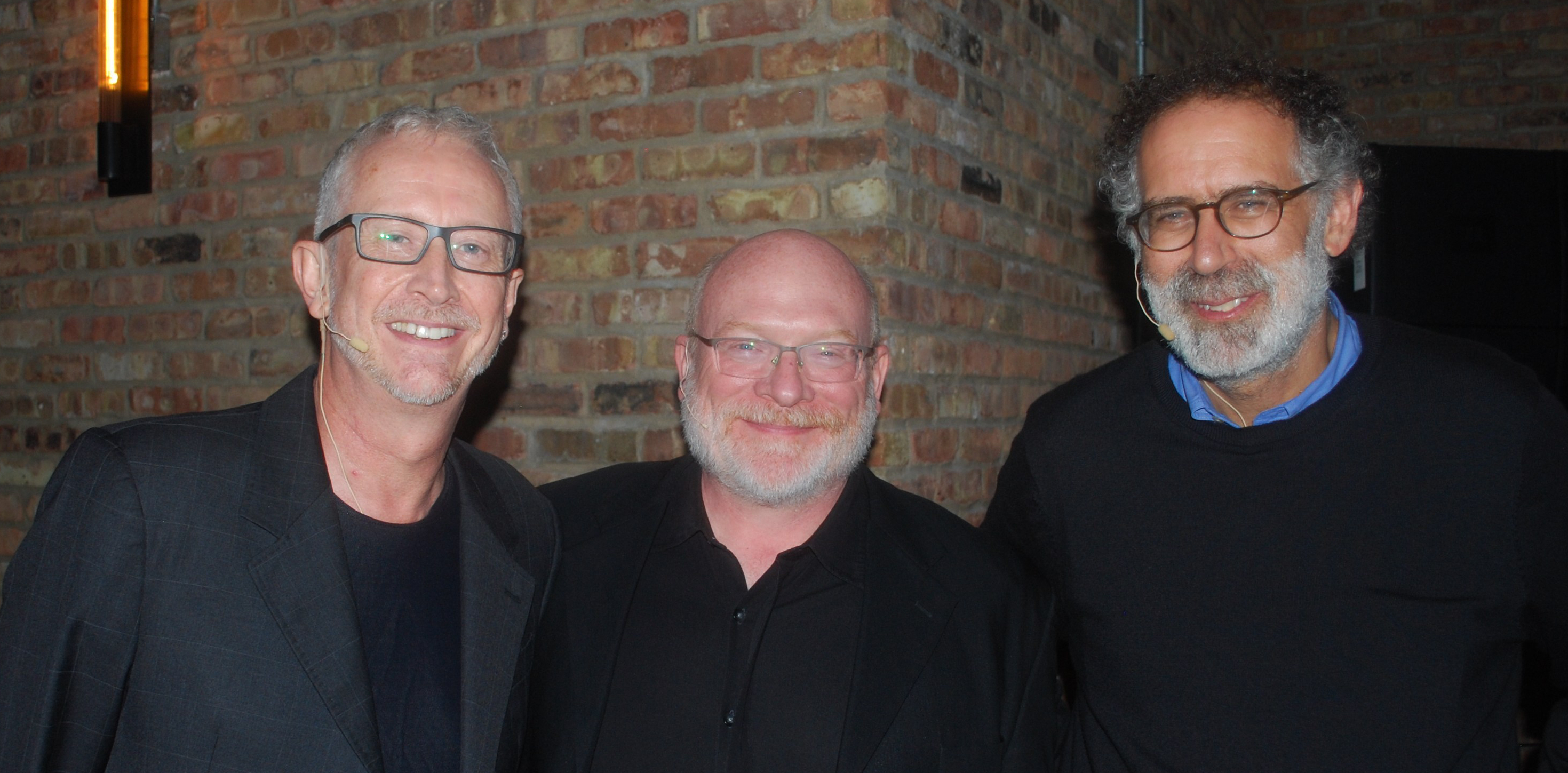 Graham Brown-Martin (left), Dr William Rankin (centre) and Mitchel Resnick (right) at the pi-top fringe event